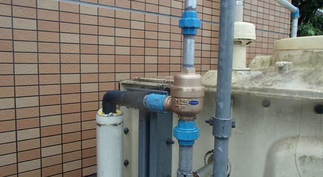 マンション 貯水槽(受水槽)オーバーフロー FMバルブ ボールタップ交換工事