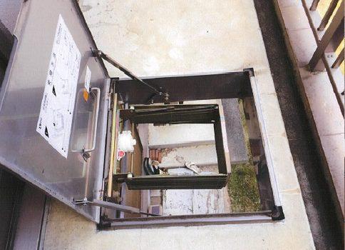 マンション ベランダ 消防設備改修工事 避難はしご交換