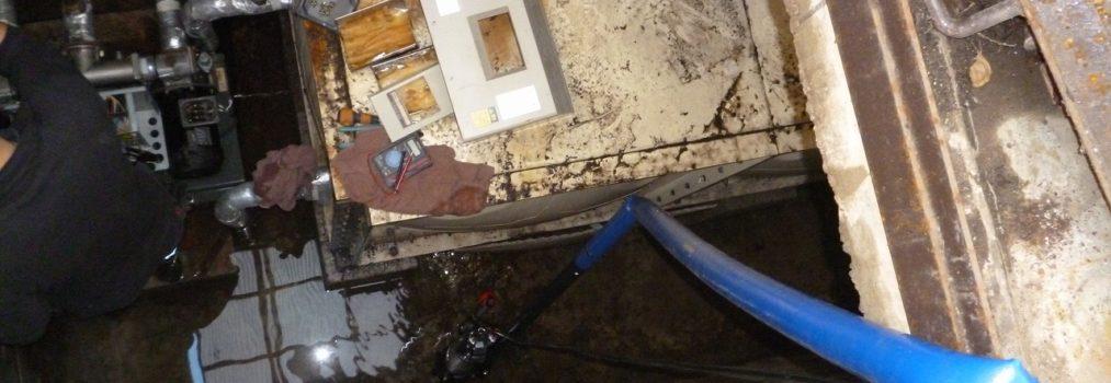 マンション 断水 ボールタップ不良 加圧給水ポンプ応急復旧対応